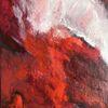 Verbrennen, Rot, Erde, Malerei