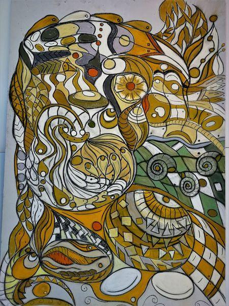Bunt, Fantasie, Wortlos, Abstrakt, Malerei, Komposition