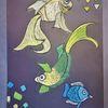 Fantasie, Tanz, Fisch, Bunt