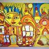 Fantasie, Bunt, Häuser, Abstrakt