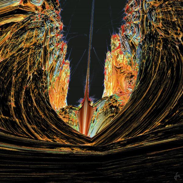 Mandelbulb, Fraktalkunst, Landschaft, Digital, Digitale kunst, Schlucht