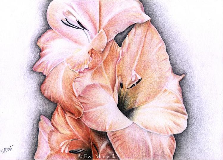 Blumen, Buntstiftzeichnung, Coloredpencils, Zeichnungen, Blumenstrauß