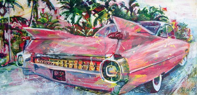 Auto, Klassiker, Cadillac, Amerikanisch, Biarritz, Retro