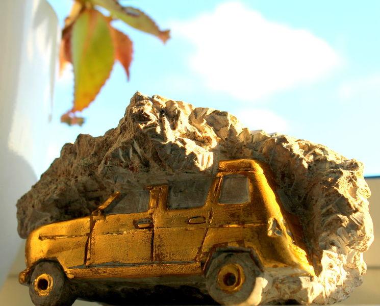 Renault, Oldtimer, Fossilien, Versteinerung, Auto, Plastik