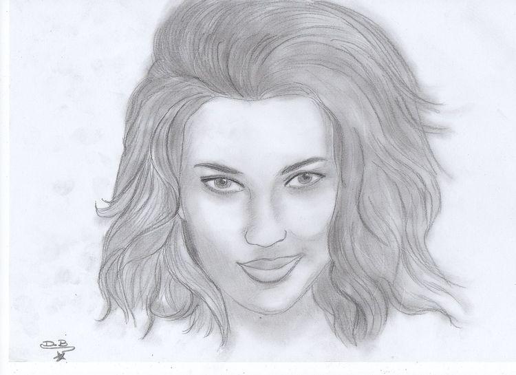 bild zeichnung bleistiftzeichnung zeichnungen portrait von dani23 bei kunstnet. Black Bedroom Furniture Sets. Home Design Ideas