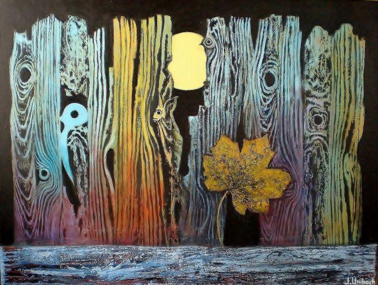 Vogel, Gemälde, Wald, Blätter, Baum, Landschaft
