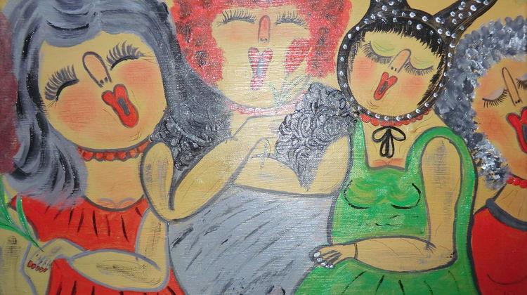 Traumwelt, Besinnlichkeit, Rot, Mädel, Malerei