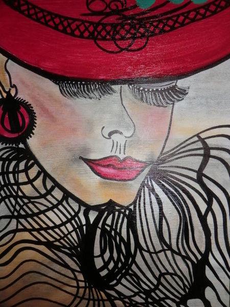 Reiz, Frau, Weiblichkeit, Besinnlichkeit, Malerei