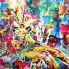 Herbst 1980 - acryl, kunst, künstler, hintergrund, hintergründe, wunderschön, blau, pinsel, leinen, farbe, handwerk, entwurf, goldmedaille, grün, medien,Öl, originell, gemälde, muster, rosa, rot, spiegelung, gestalten, atelier, oberfläche, textur, weiß, gelb, Udo, vo