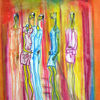 Lustgarten - acryl, kunst, künstler, hintergrund, hintergründe, wunderschön, blau, pinsel, leinen, farbe, handwerk, entwurf, goldmedaille, grün, medien,Öl, originell, gemälde, muster, rosa, rot, spiegelung, gestalten, atelier, oberfläche, textur, weiß, gelb, Udo, vo