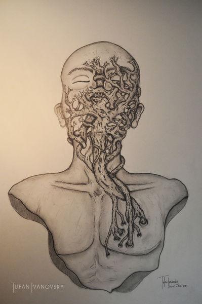 Aphorismus, Hingabe, Wurzel, Zeichnen, Verlieben, Sinnlichkeit