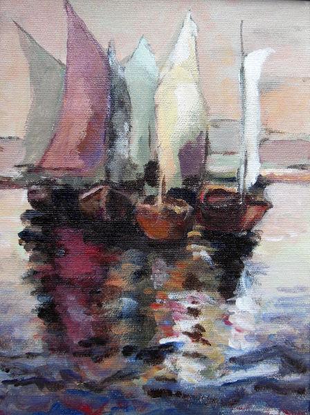 Hafen, Boot, Seegel, Glück, Wasser, Sommer
