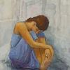 Blau, Mädchen, Jugend, Glashaus