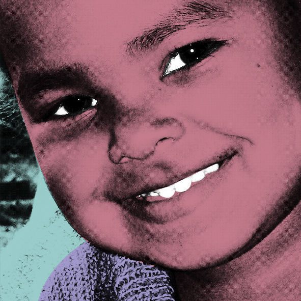 Popart, Digital, Portrait, Kids, Nepal, Digitale kunst