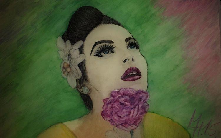 Model, Wasserfarben, Bunt, Portrait, Sinnlichkeit, Farben