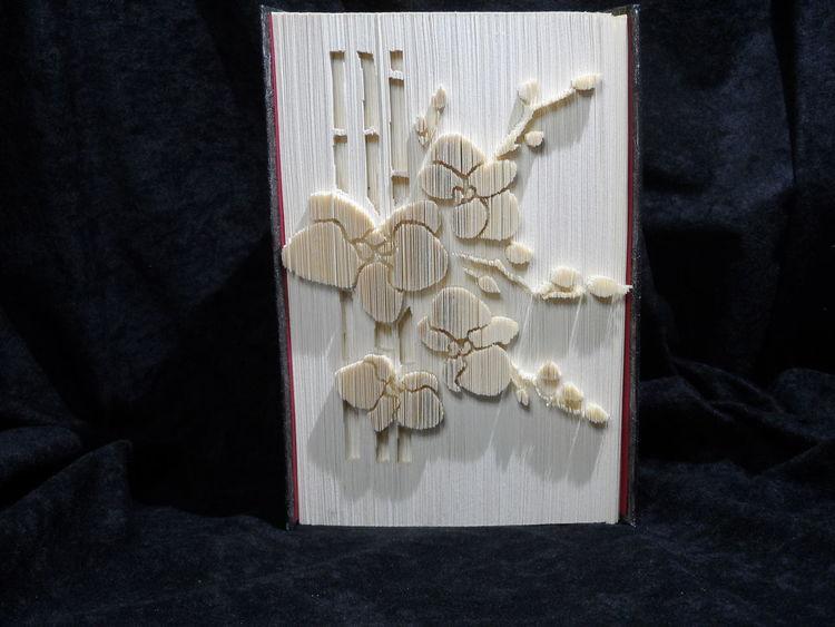 Gefaltetes buch, Orchidee, Blumen, Buchfaltkunst, Kunsthandwerk