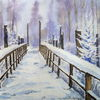 Winter, Schnee, Harz, Aquarell