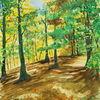Wald, Licht, Aquarell
