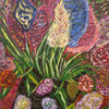 Malerei, Pflanzen, Bordeaux, Stillleben