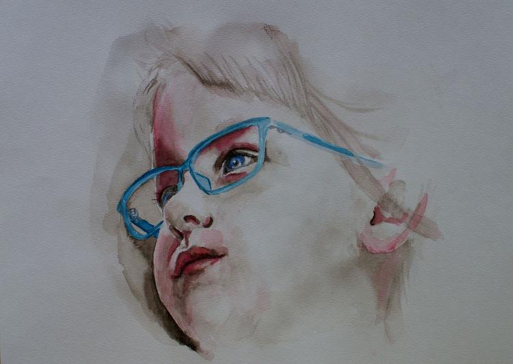 Nase, Brille, Malen, Jung, Mund, Augen