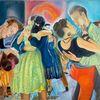 Gemälde, Menschen, Party, Tanz