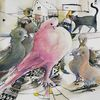 Vogel, Taube, Malerei