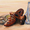 Gemütlichkeit, Flasche, Braun, Ölmalerei