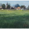 Gras, Kleinstadt, Weite, Aquarellmalerei