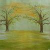 Baum, Pastellmalerei, Weimar, Hadesl