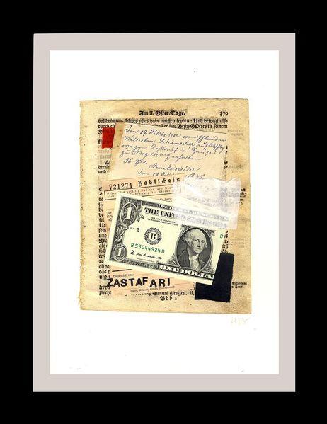 Collage, Textur, Geld, Globalisierung, Zastafari, Kapitalismus