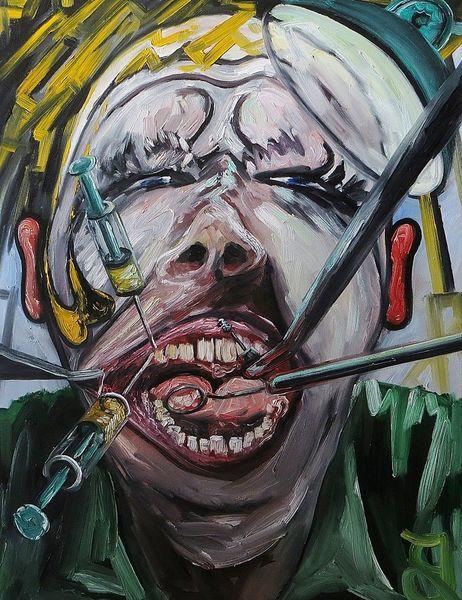 Schmerz, Zahnschmerzen, Zahnarzt, Malerei