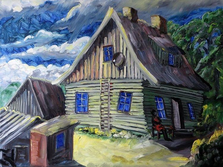 Rügen, Haus, Gehen, Malerei