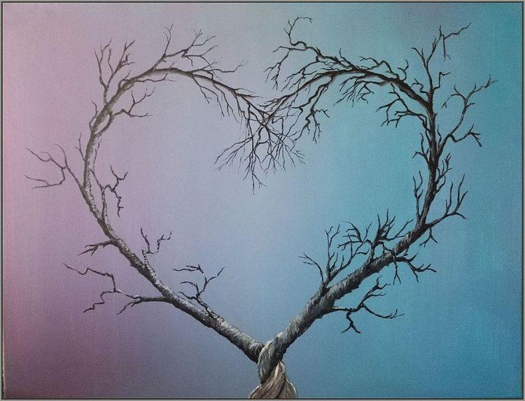 Acrylmalerei, Gemälde, Abstrakt, Herz, Malerei,