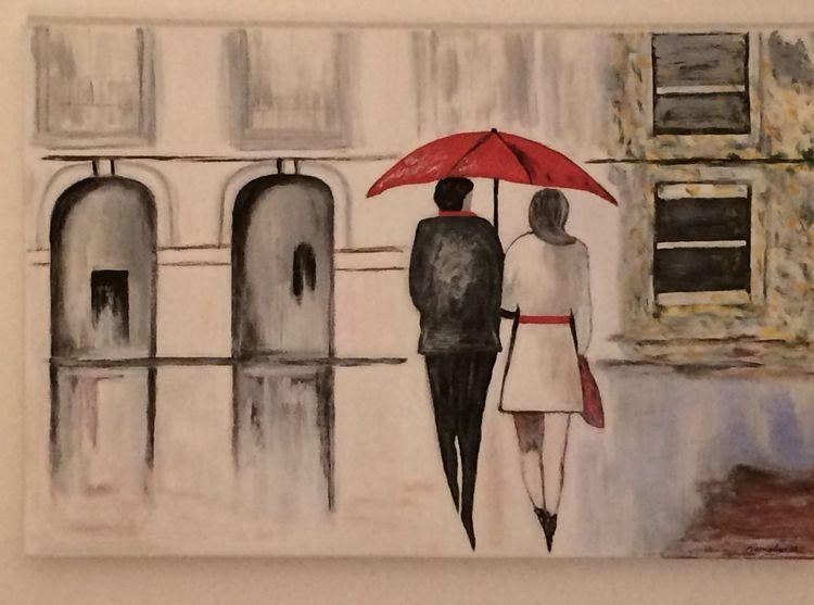 Abstrakt, Malerei, Acrylmalerei, Modern, Herbst