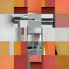 Quadrat, Fotografische collage, Farben, Fassade