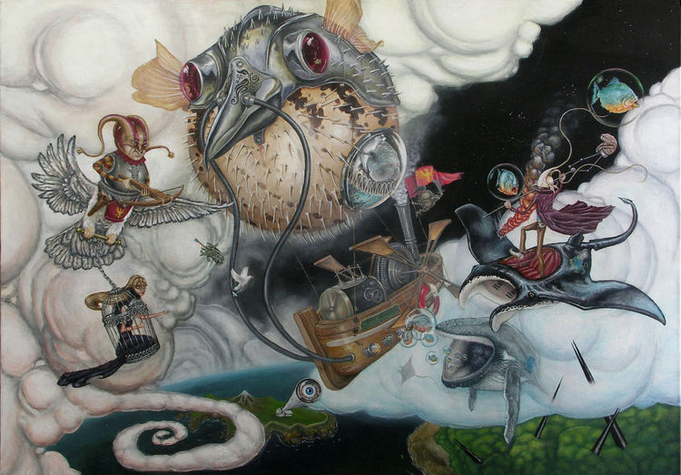 Fantasie, Surreal, Malerei, Illustrationen, Liebe