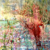 Landschaft, Wasser, Baum, Malerei