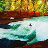 Surfen, Fluss, Eisbach, Welle