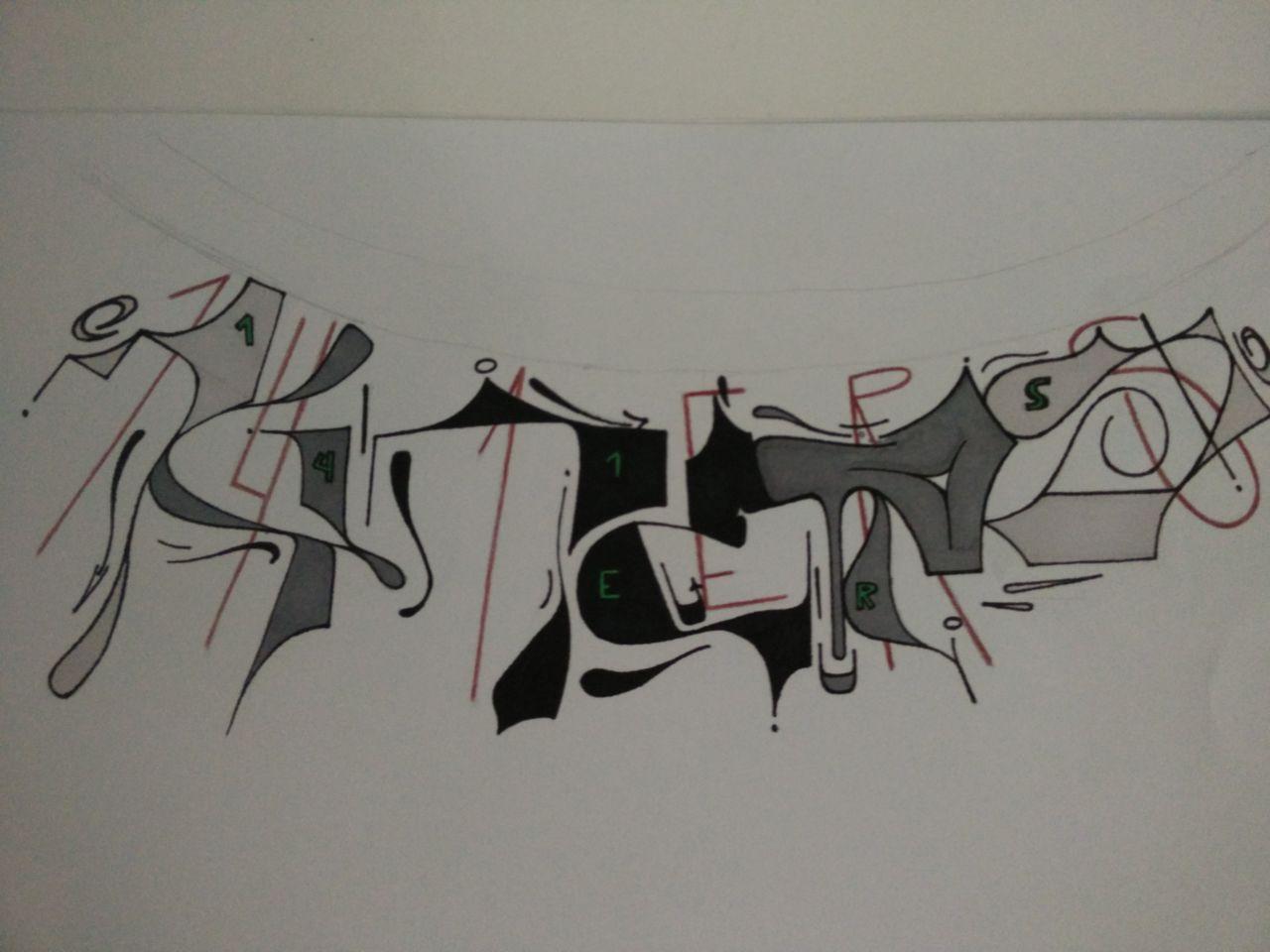 bild 141ers graffiti mischtechnik comic von bivi bei kunstnet. Black Bedroom Furniture Sets. Home Design Ideas