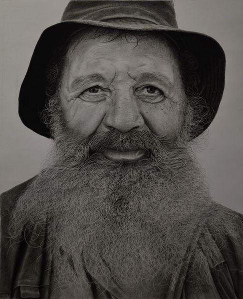 Zeichnung, Bart, Menschen, Portrait, Malerei, Realismus