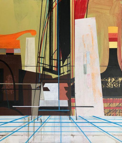 Technik, Futurismus, Acrylmalerei, Zeitgenössisch, Avantgarde, Abstrakt