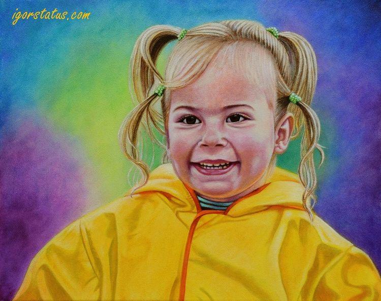 Portrait, Model, Ölmalerei, Kind, Kinder, Gesicht