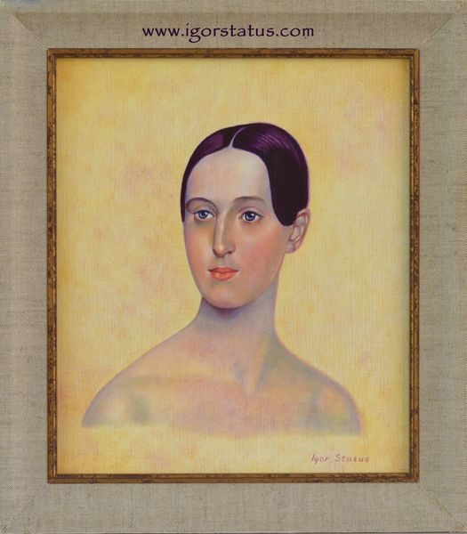 Model, Dame, Gesicht, Frau, Ölmalerei, Bestellung