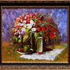 Vase, Rahmen, Blumen, Stillleben