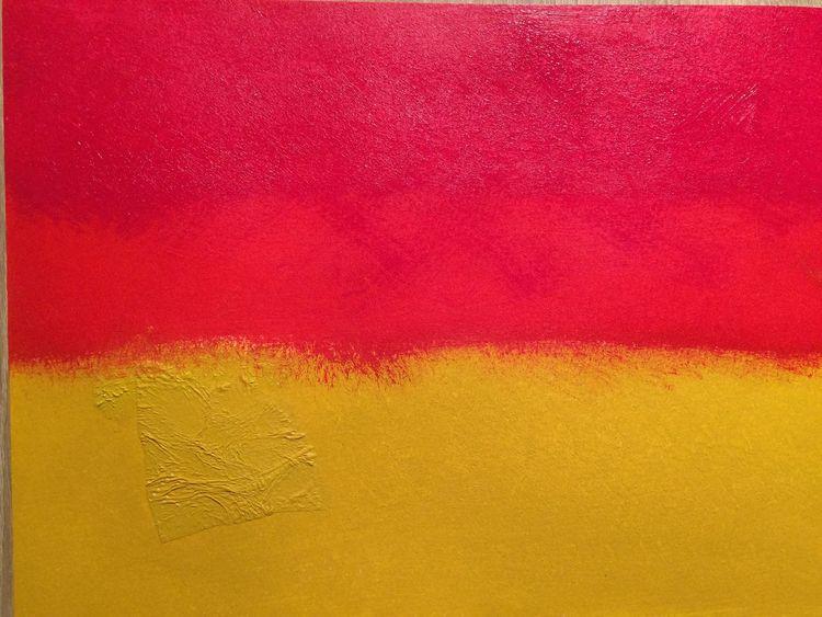 Gelb, Struktur, Acrylmalerei, Rot, Fantasie, Malerei