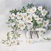 Hochzeit, Geschenk für blumenliebhaber, Aquarellmalerei, Weiße rose