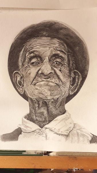 Alter, Mund, Augen, Alter mann, Kopfbedeckung, Zeichnung