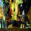 Gold, Abstrakt, Grün, Surreal
