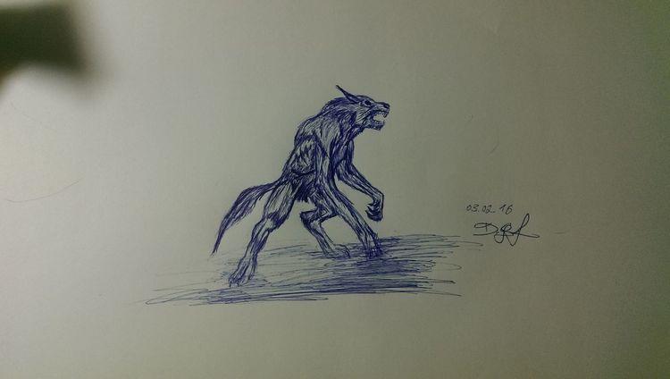 Skizze, Zeichnung, Werwolf, Zeichnungen