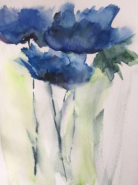 Mohn, Abstrakte malerei, Blumen, Frühling, Aquarellmalerei, Aquarell